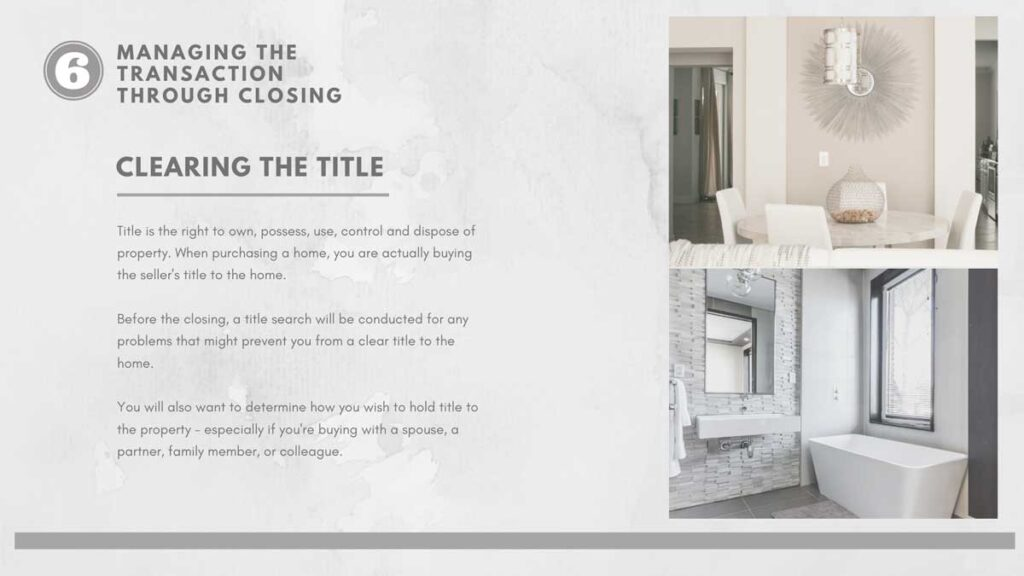 Clearing the Title when buying a house