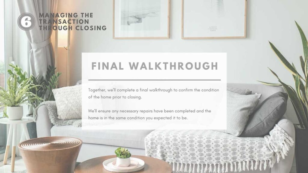 Final Walkthrough when buying real estate
