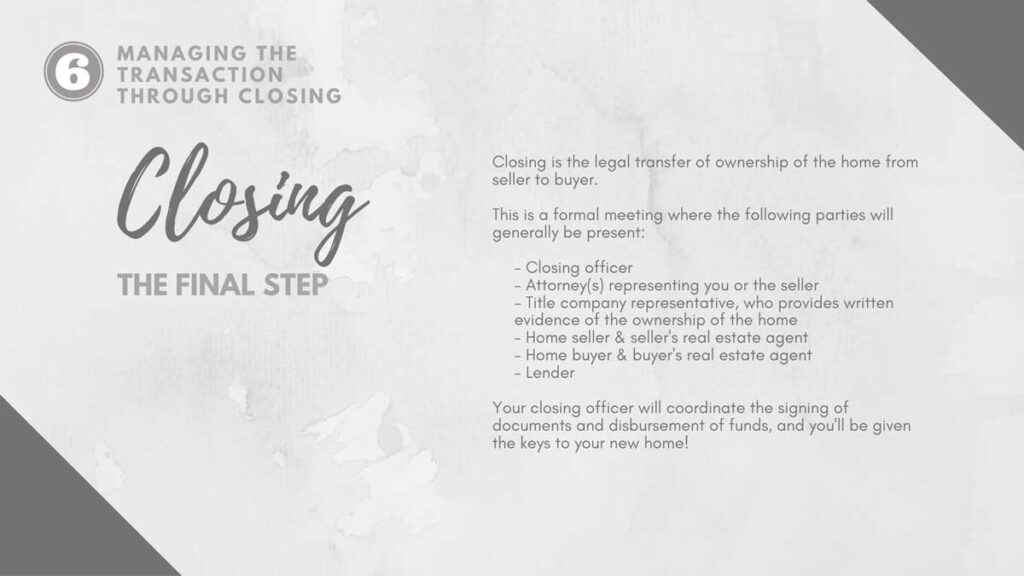 The Closing process for buying a home in Williamston, NC